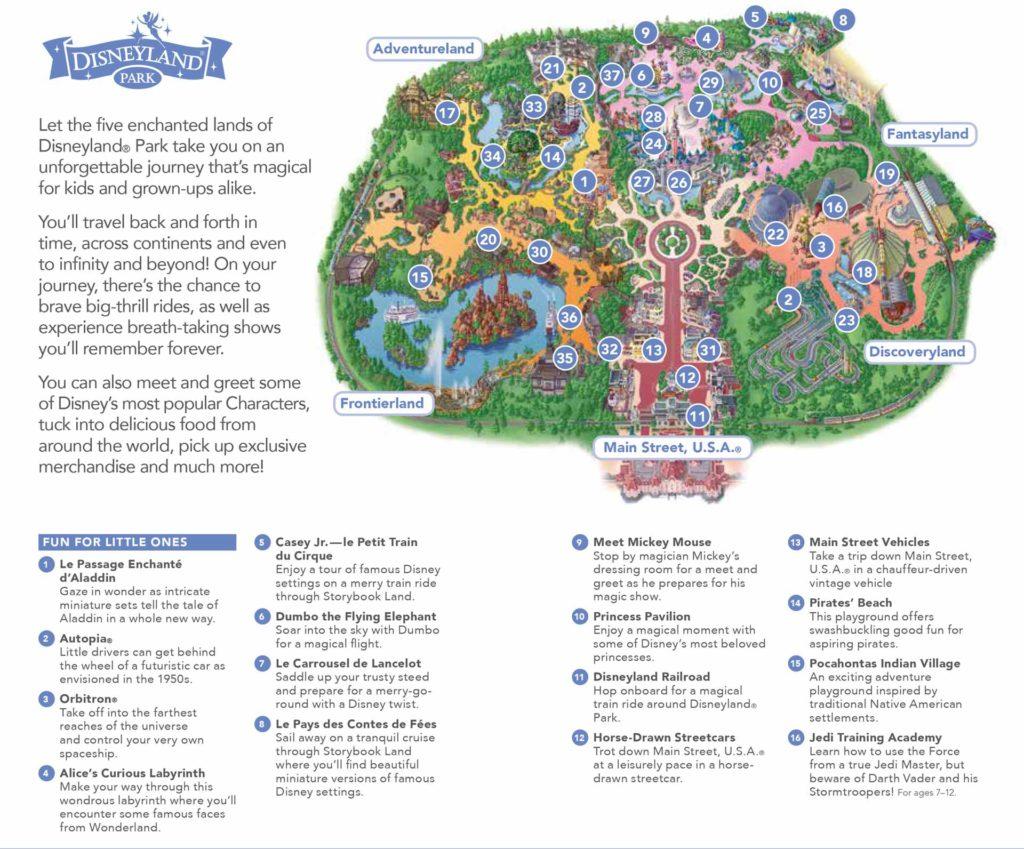 Disneyland Paris - Map Part 1